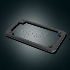"""4""""x7"""" Black License Plate Tag Frame Fastener For Motorcycle Scooter Chopper Bike"""