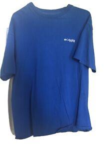 Mens Columbia PFG Sleeve T Shirt Large Blue Fishing Shirt