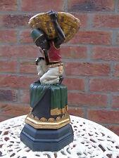 statue d un porteur noir + panier vide poche pot pourri , nouveau ! art déco .