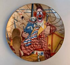LOU JABOBS Greatest Clowns of the Circus 1982 Plate creepy scary vtg w/DOG xmas