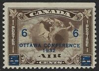 Scott C4: 6c on 5c Canada Airmail Mercury with Scroll in front of Globe, F-VF-H