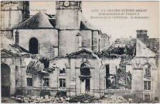 RARE ORIGINAL WWI 1914-17 LA GRAND GUERRE FRENCH POSTCARD #1161 BOMBING VERDUN