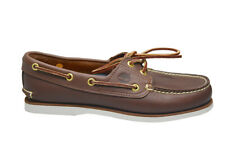 Mens Timberland Classic Boat Shoes - 74035 - Brown White