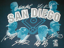 San Diego Padres Baseball Team T-Shirt Navy Signatures 2011 MLBPA Size X Large