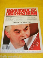 INVESTORS CHRONICLE - ELECTION '92 - MARCH 13 1992