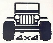 2 JEEP 4 x 4 stickers decal window car