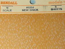 N SCALE NEW BRICK SHEETS  (3) # 8254 BY JOHN RENDALL