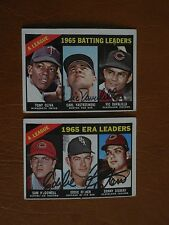 1966 Topps #222, AL ERA Leaders, signed by Eddie Fisher, Chicago White Sox