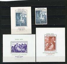 Rwanda 1971-1973 Sc#422,494 , 564 NOËL TABLEAUX Ensemble de 1 TAMPON & 3 S/S MNH