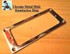 Mini Humbucker Pickup Rings Chrome (set of two) FLAT