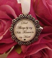 MEMORY BRIDAL BOUQUET CHARM Dad Mum Nan Grandad MEMORIAL WEDDING KEEPSAKE
