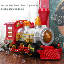 Bubble Blowing Toy Train Battery Powered Locomotive Engine With Light And Music