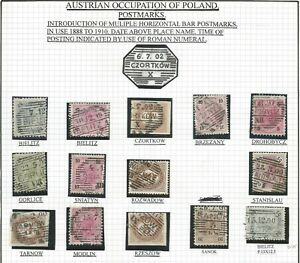 AUSTRIAN OCCUPATION OF POLAND, LOT 4 USED