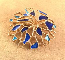 David Andersen Norway Sterling & Enamel Lg Modernist Floral Pendant/Pin/Brooch