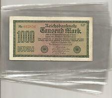 100 Hüllen für Banknoten,130x206mm,Normalfolie, Neuware