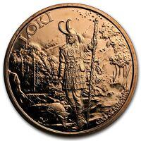 1 oz 999 Kupfer Kupfermedaille Barren Loki Nordischer Gott Wallküre Selten