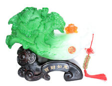 Feng Shui Big Bai Choi Statue with Money Frog and Chinese Knot