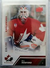2013 Upper Deck Team Canada Red Exclusives - Bill Ranford (036/100) Oilers