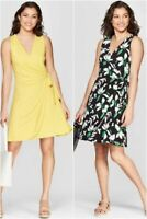Women's Sleeveless V-Neck Wrap Dress - A New Day - Various Colors/Sizes - NWT