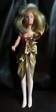 VINTAGE anni 1980 HASBRO JEM/JERRICA doll con glitter 'N Glow Gonna & Collant