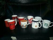 lot 10 Starbucks mugs Chicago , San Francisco , peace, plaid , hearts , etc.