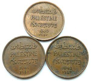 PALESTINE 3 X 1 MIL 1940  1941  1942