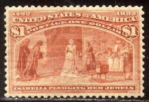 U.S. #241 Mint VF - 1893 $1.00 Columbian ($1,000)