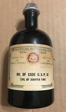 Vintage Fritzsche Brothers Inc. Oil of Cade,(Juniper Tar)New Old Stock, Sealed