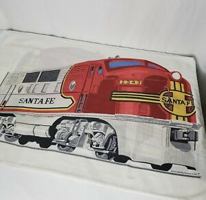 Vintage Lionel Train Pillowcases Set Of 2 Santa Fe Engine Trains HTF Made In USA