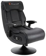 Used X-Rocker Elite Pro 2.1 Audio Faux Leather Gaming Chair-GBL125.