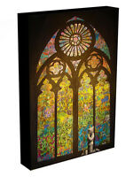 BANKSY STAINED GLASS WINDOW CANVAS ART PRINT