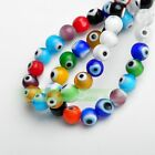 6mm 50pcs Round Lampwork Glass Crystal Dots Charms Loose Spacer Beads Mix Color