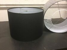 """PAIR Contemporary Style Fabric Drum Lamp shade 16"""" wide Black & White color"""