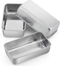 Loaf Pan Bread Baking Pans Set of 3, P&P CHEF 9 inch Stainless Steel Bakeware