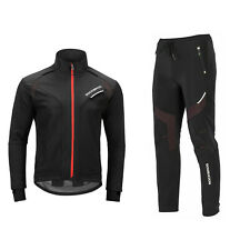 ROCKBROS Winter Jacke Fahrradbekleidung Herren Fahrrad Jacke + Hose Set Radjacke