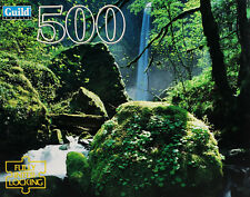 Vintage Jigsaw Puzzle Guild 500 Pcs Columbia River Gorge Oregon Forest Waterfall