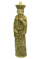 """Asian Figurine Statue Resin Man Detailed Carved Dragon Chinese Oriental 10 1/2"""""""