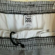 3X Chef Pants Nwot Houndstooth Revival Big Tall Graphic Print Mens Womens