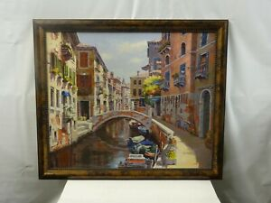 S, Sam Park Venice Hand Signed Limited Edition Serigraph on Canvas AP 76/78