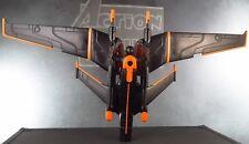 "ONE MAN LIGHT JET 2010 Tron DISNEY Movie BLACK GUARD 3.75"" Action Figure Toy"