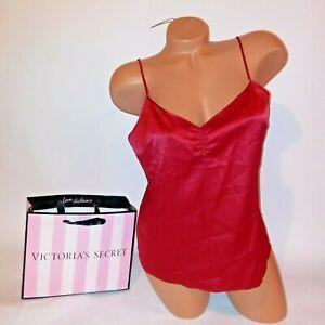 Victoria Secret Lingerie Camisole Tank Top Sleepwear Satin Lace Trim Cami Sleep