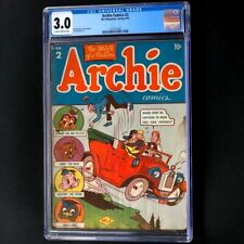 Archie Comics #2 (1943) 💥 CGC 3.0 💥 Only 39 in Census! Golden Age MLJ Comic
