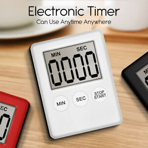 Magnetic Kitchen Timer Cooking Digital Count Down Up Clock Loud Alarm Magnetic