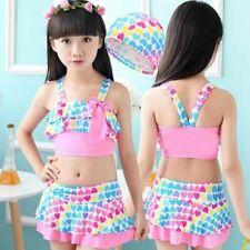 Children Swimwear Girls Two Piece Swimsuit Kid Tankini Bathing Suits Beach Skirt