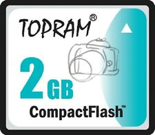 TOPRAM 2GB CF 2G Compact Flash MLC memory card high Speed w/case