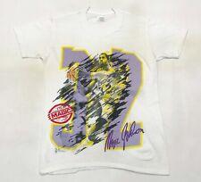 Vintage NBA Magic Johnson Los Angeles Lakers 50/50 T-Shirt M Youth White Tee USA