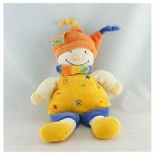 Doudou lutin clown jaune bleu orange NICOTOY - Clown Classique