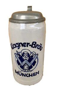 Antiker Bierkrug Wagner Bräu München von 1925 21/01