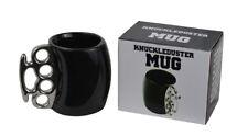 Black Fist Cup Knuckle Duster Handle Coffee Tea Milk Mug Ceramic Gag Gift Joke!