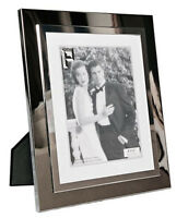 """Silver Photo Picture Frame 4x6"""", 5x7"""" & 8x10"""" - Shiny Silver - Thick Edge"""
